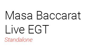Masa Baccarat Live EGT
