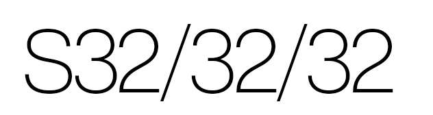 S32/32/32