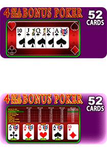 4 of a Kind Bonus Poker