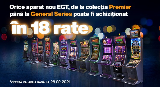 Aparate NOI EGT  - in 18 rate!